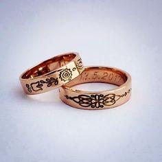 5c23c9c0fd03 Henrieta Môcová vyrába takéto netradičné šperky  henrietamocova Svadobné  obrúčky Ľudový ornament na dámskej obrúčke je