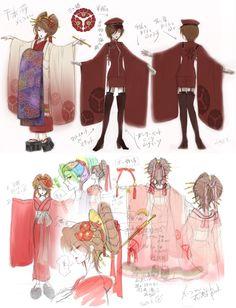 "Hatsune Miku's ""Senbonzakura"" Concept Art | 「お祝い&千本桜・設定書」/「一斗まる」の漫画 [pixiv] [11]"