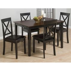 Burly Brown  Black Finished 5 Piece Dining Set ** Click image to review more details.Note:It is affiliate link to Amazon.