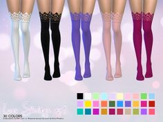 Lace Stockings at Aveira Sims 4 via Sims 4 Updates Check more at http://sims4updates.net/accessories/lace-stockings-at-aveira-sims-4/