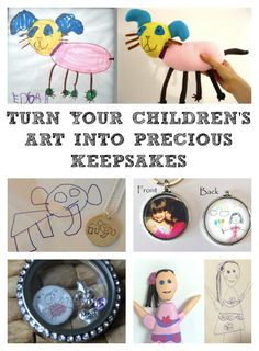 I've just discovered all these amazing ways to have your children's art made into a lifelong keepsake...how freaking cool is that!!