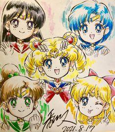 """香川久 Hisashi Kagawa on Twitter: """"プレゼントに贈るため描いた!(奥さんへの誕生日プレゼントではない💦) 映画セーラームーンSSの時のちびちびになったセーラー戦士たち😇 20数年ぶりに全員描いたなぁ😮 お裾分けにその画像を!… """" Sailor Moon Art, Sailor Moon Crystal, Graphic Novel Art, Kagawa, Moon Pictures, Cool Artwork, Traditional Art, Beautiful Day, Chibi"""