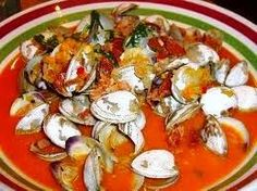 Lucille's Bloody Mary steamed clams consisted of a bowlful of top neck clams steamed in a spicy tomato juice and vodka broth.