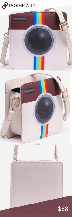"""👛INSTAGRAM PURSE 👛 PreOrder UNIQUE! Head turning Instagram Crossbody. Great for a night out on the town. Length 6.69"""". Height 6.69"""". Width 2.75"""". Strap length 23""""-47"""". Please note this is a pre-order item. 👛Expected arrival mid to late March. I am offering a 10% discount on pre-ordered items.🌸these come direct from my distributor without tags, shipped in clear plastic bag… No tag. Bags Crossbody Bags"""