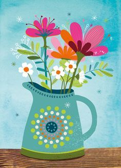 15 Ideas for wall paper flowers drawing Tea Illustration, Arte Floral, Floral Illustrations, Whimsical Art, Botanical Art, Flower Patterns, Cute Art, Art Lessons, Flower Art