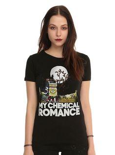 My Chemical Romance Mailbox Girls T-Shirt, BLACK