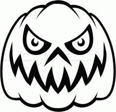 how to draw a scary pumpkin step by step halloween seasonal - Draw Halloween Pumpkin