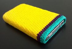 Hand Crocheted Yellow iPhone 5 4S Case by MomDaughterCraft on Etsy, €11.00