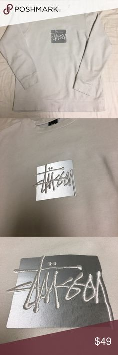 Stussy 3M Reflective Box Logo Crewneck Sweater Lightly worn. Washed once. Medium. Feel free to leave an offer or a comment! All offers are considered! Each product is wrapped, packed, and shipped on the same day, unless post office is closed. In that case, I will ship next avaliable day. Stussy Jackets & Coats