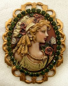 Victorian Blond Lady Resin Profile by SparklingTreasures2U on Etsy, $30.00