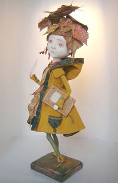 """OOAK Art Doll """"About the Autumn"""" at the TatianaGurina at Etsy."""