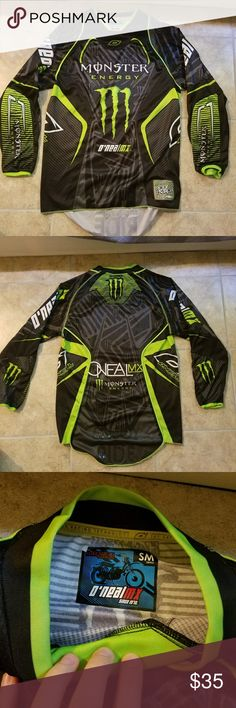 Monster motocross long sleeve shirt Excellent condition! Have had it in the closet forever. Used to love it but not my style any more. No damage at all. Smoke free home! O'Neill Tops
