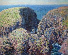 Bloc de rochers, Belle-Ile (C Monet - W 1097) | by photopoésie