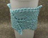 Leaf Cup Cuddler. $10.00, via Etsy. (Gorgeous). Kids make finger knit cup holder?