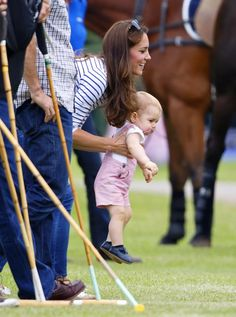 Pin for Later: Prince George Crawls at His Dad's Polo Match on Father's Day