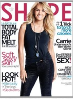 Magazine photos featuring Carrie Underwood on the cover. Carrie Underwood magazine cover photos, back issues and newstand editions. Shape Magazine, Carrie Underwood, Baby Workout, Womens Health Magazine, Thing 1, Post Pregnancy, How To Slim Down, Wellness Tips, Flat Belly