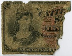 During the US Civil War, Charles H. Peterson participated in the Chancellorsville, Gettysburg, Wilderness, and Petersburg campaigns. This bank note was found tucked into one of the diaries he kept between 1863 and 1865. Civil War Narratives Digital Collections.