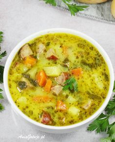New Recipes, Soup Recipes, Vegetarian Recipes, Cooking Recipes, Healthy Recipes, Easy Hamburger Soup, Ground Beef And Potatoes, I Love Food, Soups And Stews