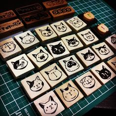 linocut,print making,rubber stamp,eraserstamp,แกะยางลบ,消しゴムはんこ •カワイイどうぶつ消しゴムはんこ*ソラスタンプ*