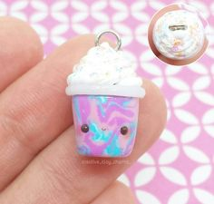 Hello guys!!☺ Yesterday evening I made this kawaii unicorn frappuccino charm using polymer clay. It's inspired by the tutorial from @rachyh96 . I hope you like it #rachyh96