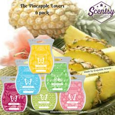 A Pineapple is truly the most amazing, spectacular thing of the human race. It is a thing of beauty, something that should be worshipped and loved by all that know it. Are you a Pineapple Fragrance Lover? If so you need the Pineapple lovers 6 pack!  #scentsybundles #fragrance #scent #love #gifts #giftware #smellsdivine #giftideas #homedecor #wax #warmers #home #pineapples