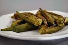 Roasted Okra - the absolute best and easiest way to cook okra. No slime!