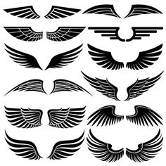 Illustration about Wings. Illustration of concept, silhouette, graphic - 8792600 Eagle Wings, Bird Wings, Inka Tattoo, Alas Tattoo, Wings Drawing, Wing Tattoo Designs, Web Design, Logo Design, Free Tarot