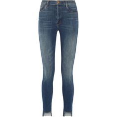 J Brand Carolina high-rise skinny jeans (760 ILS) ❤ liked on Polyvore featuring jeans, pants, bottoms, mid denim, high waisted distressed jeans, stretch skinny jeans, ripped skinny jeans, destroyed skinny jeans and super high-waisted skinny jeans