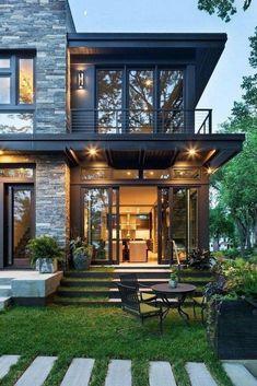 most popular modern dream house exterior design ideas 34 Minimalist House Design, Minimalist Home, Modern House Design, Modern Houses, Beautiful Houses Interior, Beautiful Homes, House Beautiful, Beautiful Beautiful, Beautiful Interiors