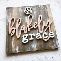 Modern Wood Name Board – Wood Name Sign – SQUARE – Custom Wall Art – Nursery Decor – 2019 - decorationdiyroom. Wood Name Sign, Wood Names, Wood Letters, Nursery Wall Art, Girl Nursery, Nursery Decor, Cute Baby Names, Name Boards, Baby Name Signs