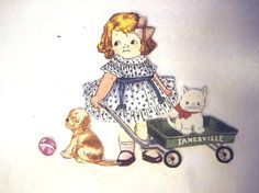 Reproduction  Fabric Paper Doll with  outfits  by KellettKreations, $10.95