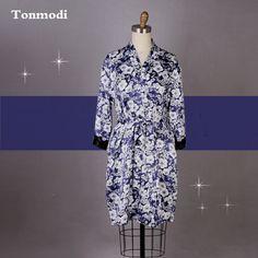 Ladies Silk Robes Flowers Porcelain Classic Lace Sexy Robe Satin Sleepwear Women Silk Satin Nightgown