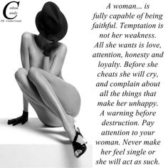 This message is for all men pay attention to your women either wife /girlfriend !!