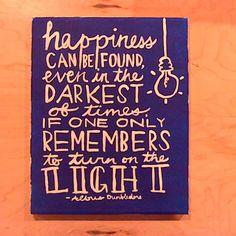 Lightbulb Motif Quote Art via Etsy