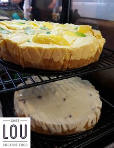 Cheesecake citron passion, et cheesecake chocolat blanc noix de pécan