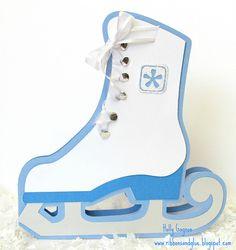 Winter Ice Skate Card