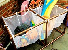 DIY PVC Pool Storage Bins