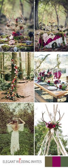 amazing forest boho wedding themes ideas