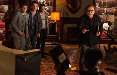 Slappy, R.L. Stine, Zack, Champ, and Hannah- Goosebumps Movie 2015