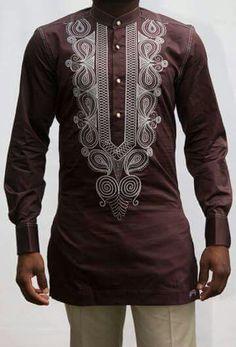 Nigerian Men Fashion, African Men Fashion, African Fashion Dresses, Mens Fashion, African Clothing For Men, African Shirts, Dashiki For Men, Kaftan, Afro Style