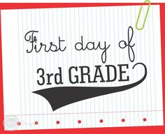 FREE First Day of School Printable Signs from WCC Designs | Catch My Party