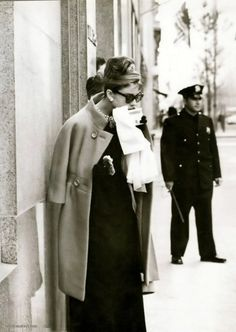 Audrey Hepburn on the set of Breakfast at Tiffany's
