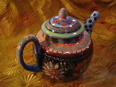 Teapot Floral Charm by pamdesign on Etsy, $140.00