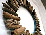Single Layer Driftwood Wreath, Rustic Home Decor, Beach Home Decor - Driftwood 4 Us Decorating Tips, Decorating Your Home, Chevron Coffee Tables, Driftwood Wreath, Driftwood Projects, Sofa Upholstery, Home Improvement Projects, Decoration, Aqua Blue