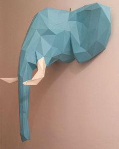 Elephant Head Papercraft - I feel like it would completely be worth the ridiculous amount of time necessary to make this