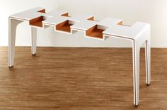 Exhibitable modern minimalist design for functional library furniture