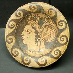 Ceramic plate Name vase of the Genucilia Group Made in Caere (Cerveteri) 340-300 BCE  Rhode Island School of Design Museum of Art, Providence, Rhode Island