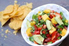 chunky mango and avocado summer salsa.