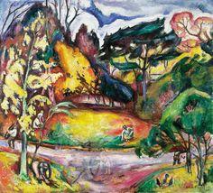 Othon Friesz (Fr., 1879-1949), Paysage à l'automne, La Côte de Grâce,1906, huile sur toile, 105,5 x 116 c, Norfolk, Chrysler Museum of Art
