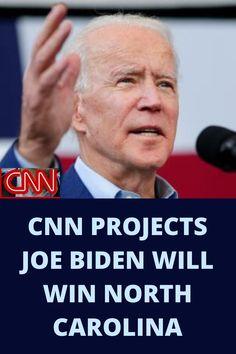 CNN projects that Former Vice President Joe Biden will win North Carolina's Democratic primary.